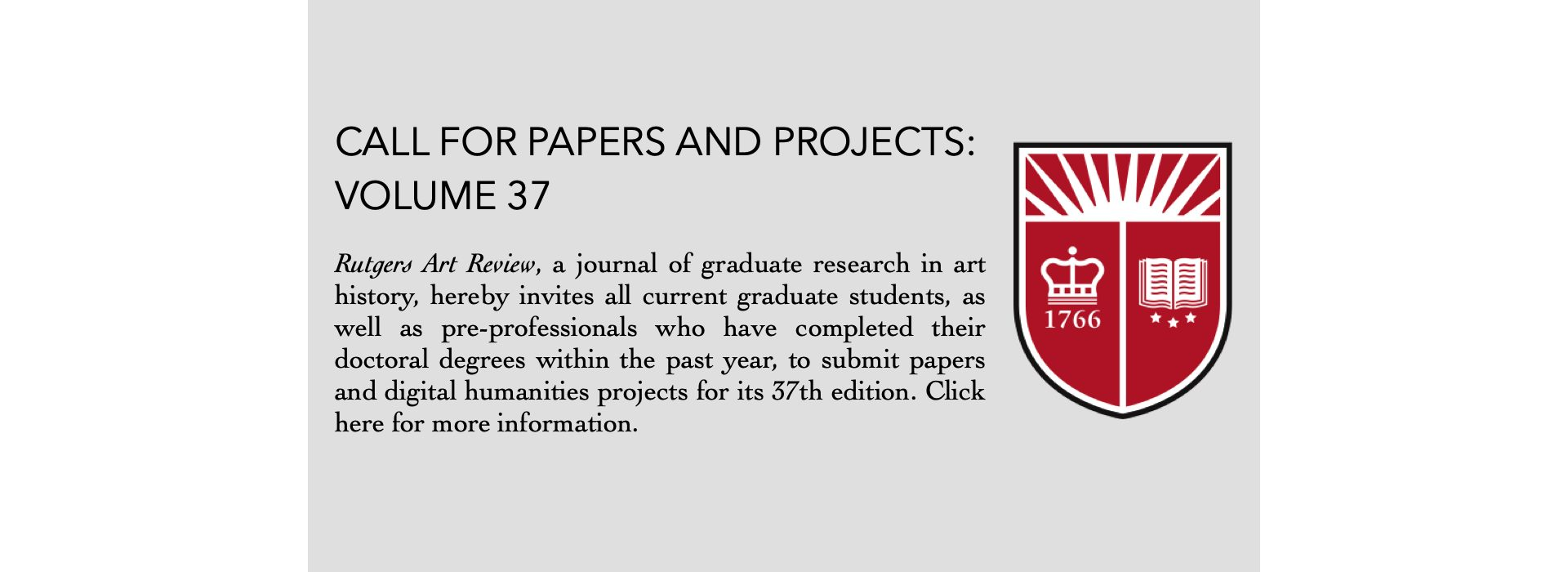 Permalink to: Call for Papers and Projects